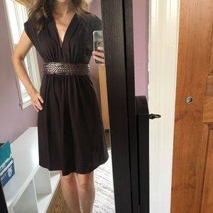 Super comfortable brown summer dress -tie in back